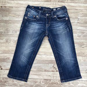 Miss Me JE5427C2 Crop Relaxed Fit Blue Denim Jeans